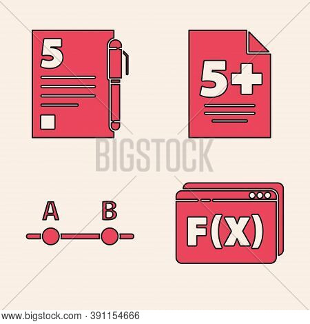 Set Function Mathematical Symbol, Test Or Exam Sheet And Pen, Test Or Exam Sheet And Graph, Schedule