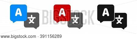 Translate Vector Icon. Interpreter Or Translator Flat Symbol Collection.