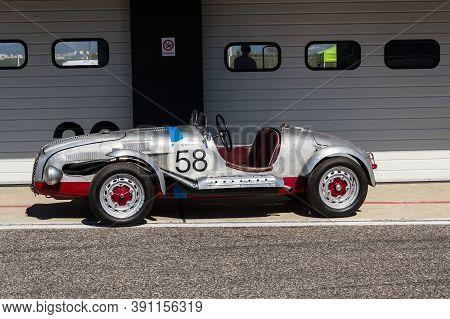 Most, Czech Republic - September 9 2020: Vintage Veteran Car Aero Minor Sport Stands On Road On Sept