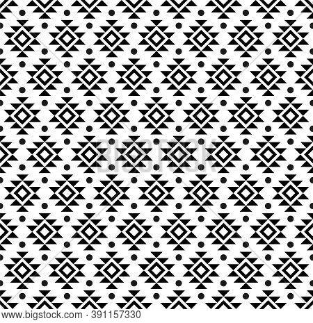 Abstract Geometric American Ethnic Indigenous Art Pattern.