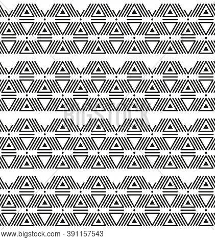 American Ethnic Indigenous Seamless Art Triangles Pattern
