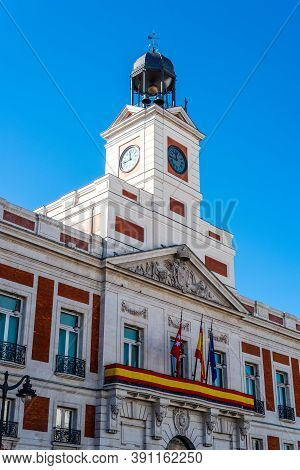 Puerta Del Sol Square In Central Madrid