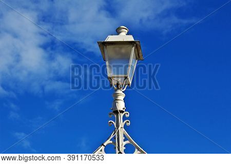 The Lamp On Ha Penny Bridge In Dublin, Ireland