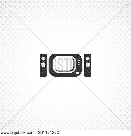 Home Theater Isolated Solid Vector Icon On White Background