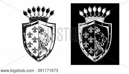 Tailoring Vector Coat Arms Crest Logo Design Element Shield Badge Form