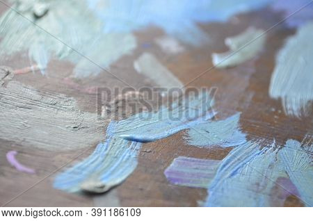 Painter Palette With Colours