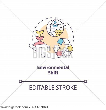 Environmental Shift Concept Icon. Social Change Benefit Idea Thin Line Illustration. Climate Changes