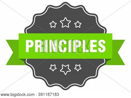Principles Label. Principles Isolated Seal. Sticker. Sign