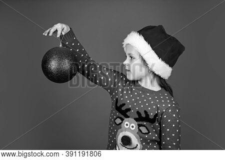 Festive Decor. Ready For Xmas Party. Happy Winter Holidays. Greeting And Congratulation. Small Santa