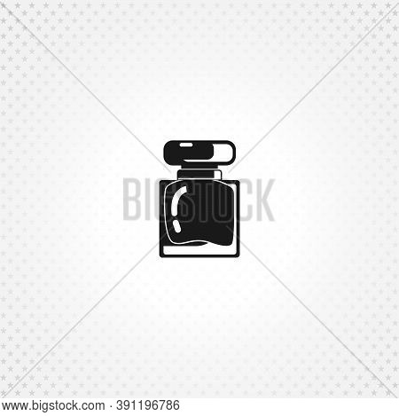 Perfume Isolated Solid Vector Icon On White Background