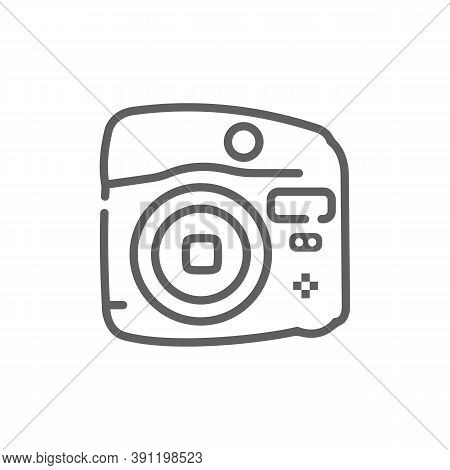Instant Camera Icon. Outline Illustration Of Instant Camera Icon Vector, Icon For Web. Web Symbol Fo