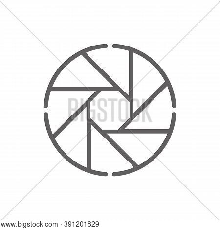 Photo Camera Diaphragm Icon. Outline Illustration Of Photo Camera Diaphragm Vector Icon For Web. Web