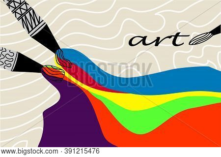 Creative Background Of Art Poster Flyer, Advertisement Promotion, Banner, Flyer. Artistic Abstract I