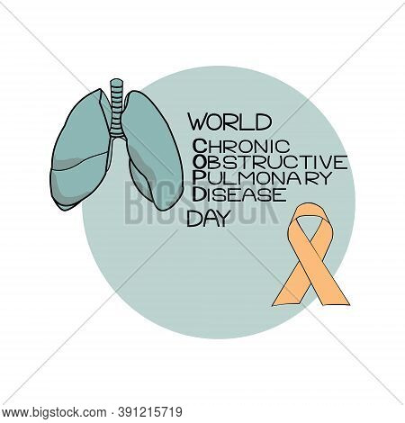 World Copd Day, Chronic Obstructive Pulmonary Disease, Schematic Representation Of Lightweight, Them