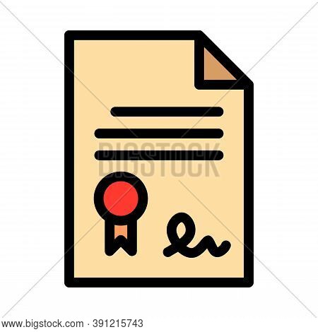 Leasing Document Paper Icon. Outline Leasing Document Paper Vector Icon For Web Design Isolated On W
