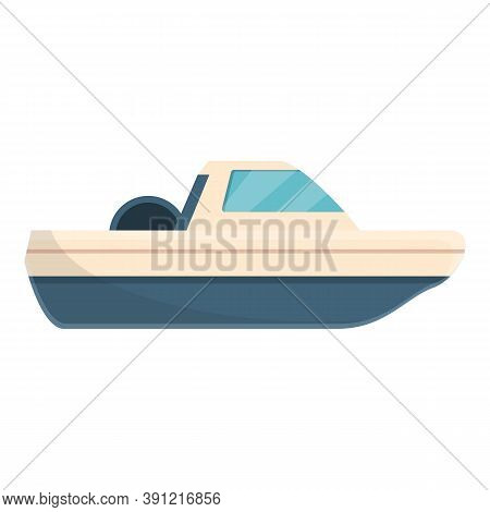 Marine Fishing Boat Icon. Cartoon Of Marine Fishing Boat Vector Icon For Web Design Isolated On Whit