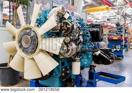 Details And Units Of Tractor Internal Combustion Engine