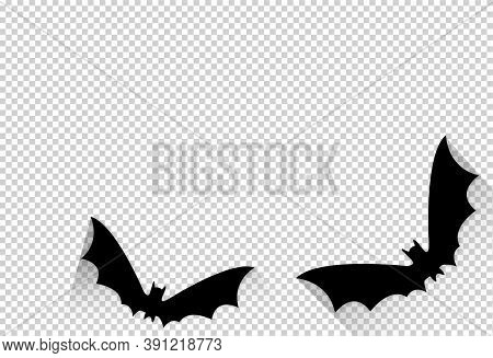 Halloween Party  Banner , Bats Paper Cute  Isolated  On Png Or Transparent  Background, Text Boo, Tr