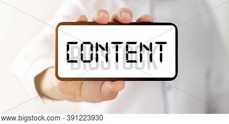 Social Media Content Strategy Concept. Content Marketing.