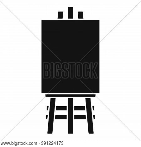 Wood Easel Icon. Simple Illustration Of Wood Easel Vector Icon For Web Design Isolated On White Back