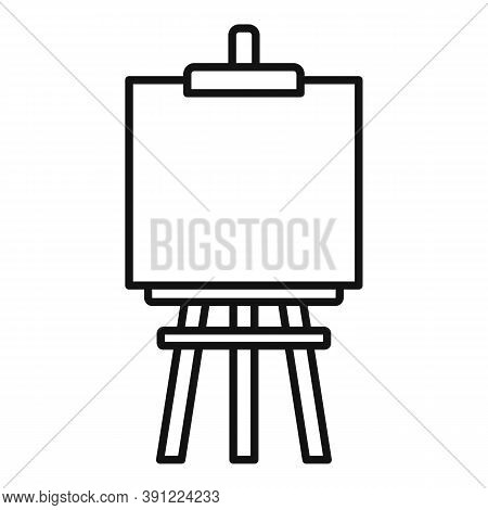 Easel Icon. Outline Easel Vector Icon For Web Design Isolated On White Background