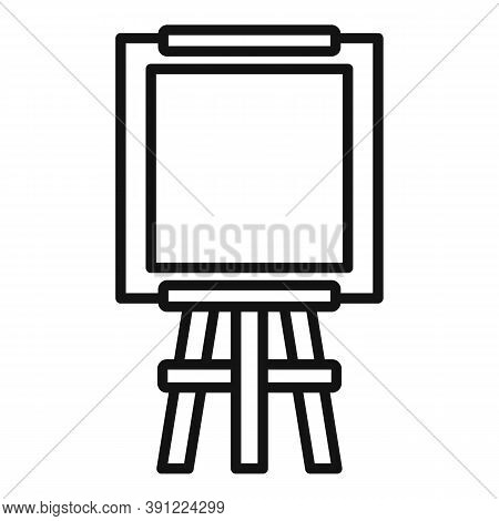 Equipment Easel Icon. Outline Equipment Easel Vector Icon For Web Design Isolated On White Backgroun