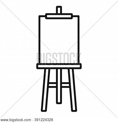 Board Easel Icon. Outline Board Easel Vector Icon For Web Design Isolated On White Background