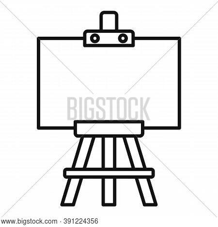 Education Easel Icon. Outline Education Easel Vector Icon For Web Design Isolated On White Backgroun