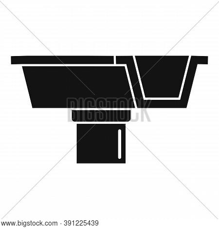 Concrete Gutter Icon. Simple Illustration Of Concrete Gutter Vector Icon For Web Design Isolated On
