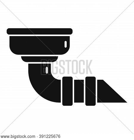 Construction Gutter Icon. Simple Illustration Of Construction Gutter Vector Icon For Web Design Isol