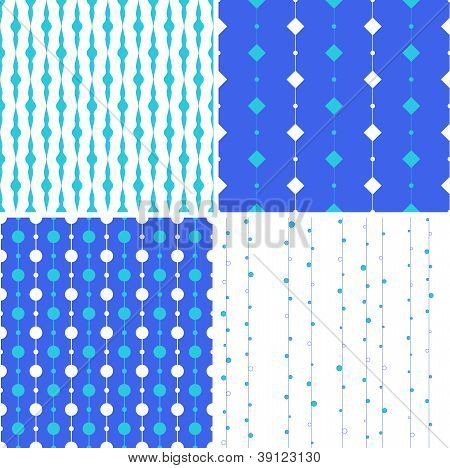artistic seamless background with squares and circles on lines