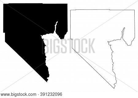 Clark County, Nevada (u.s. County, United States Of America, Usa, U.s., Us) Map Vector Illustration,