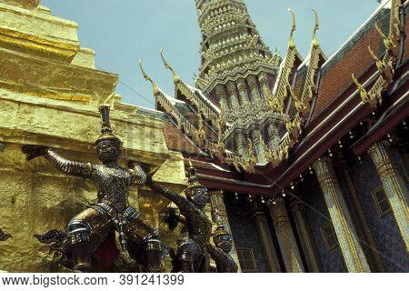 Asia Thailand Bangkok Wat Phra Kaew