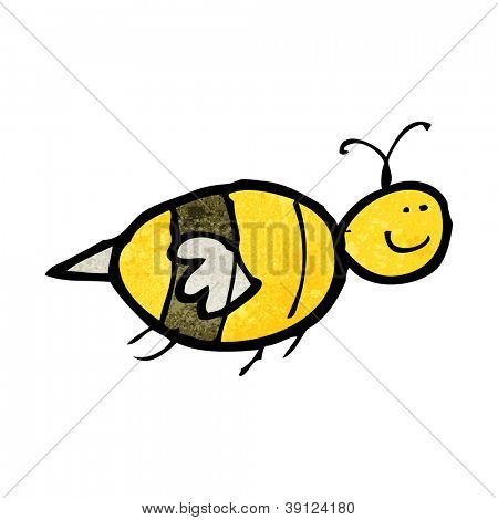 child's drawing of a bee