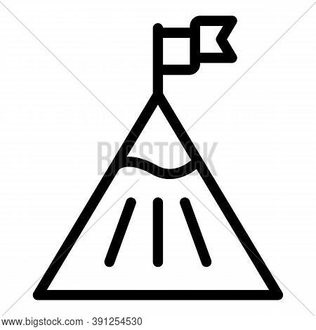 Mountain Target Adaptation Icon. Outline Mountain Target Adaptation Vector Icon For Web Design Isola