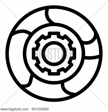 Adaptation Mechanism Icon. Outline Adaptation Mechanism Vector Icon For Web Design Isolated On White