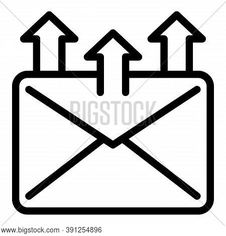 Send Mail Request Icon. Outline Send Mail Request Vector Icon For Web Design Isolated On White Backg