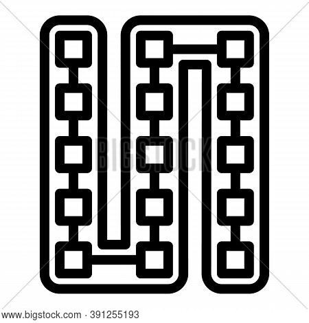 Led Strip Lights Module Icon. Outline Led Strip Lights Module Vector Icon For Web Design Isolated On