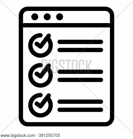 Web Final Exam Icon. Outline Web Final Exam Vector Icon For Web Design Isolated On White Background