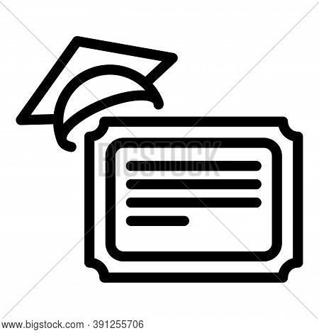 Final Exam Diploma Icon. Outline Final Exam Diploma Vector Icon For Web Design Isolated On White Bac