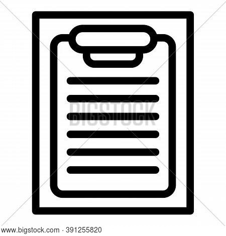 Clipboard Exam Test Icon. Outline Clipboard Exam Test Vector Icon For Web Design Isolated On White B