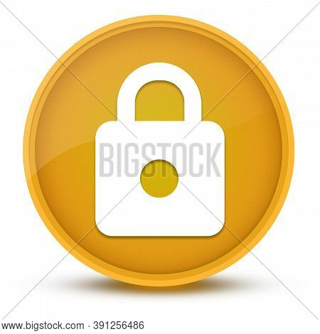 Https Luxurious Glossy Yellow Round Button Abstract Illustration