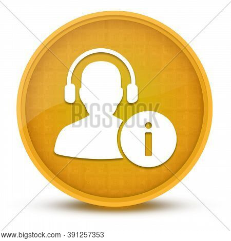 Help Desk Luxurious Glossy Yellow Round Button Abstract Illustration