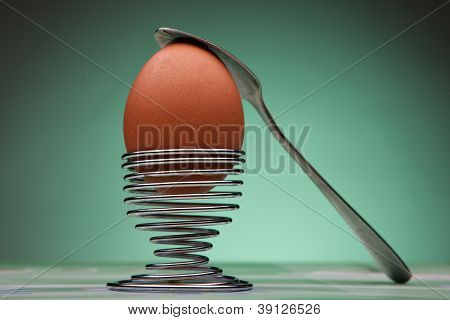 Boiled Egg and stand for eggs