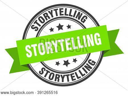 Storytelling Label. Storytellinground Band Sign. Storytelling Stamp
