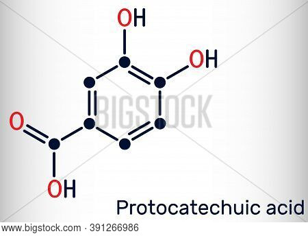 Protocatechuic Acid, Pca Molecule. It Is 3,4-dihydroxybenzoic, Phenolic Acid, Metabolite Of Antioxid