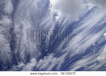 Blue sky with a beautiful white clouds