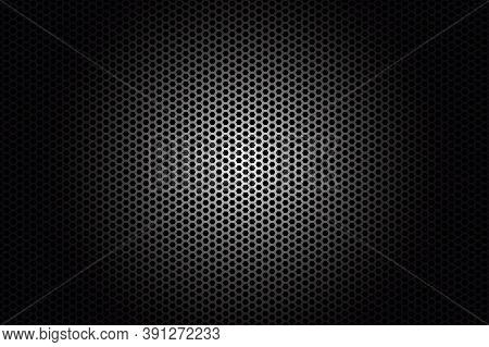 Dark Carbon Fiber Texture. Metal Texture Black Steel Background.