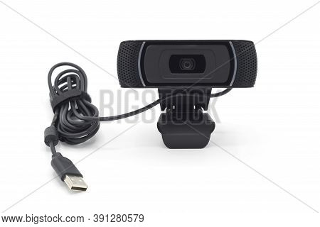 Detail Of Webcam Isolated On White Background