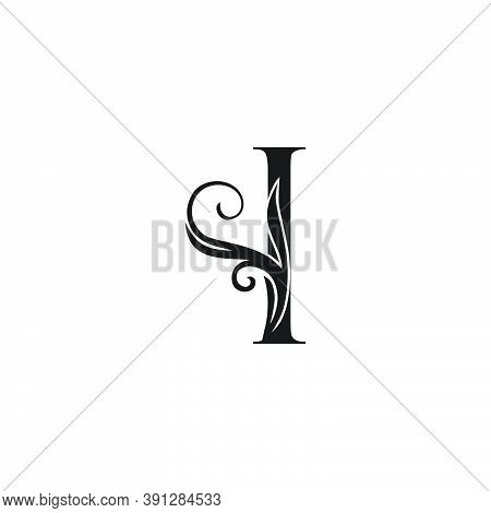 Monogram Luxury Initial Logo Letter I Vector Design Concept Luxury Floral Leaf For Luxuries Business